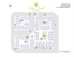 Cedar Creek Apartments site map